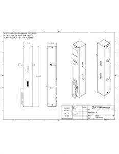 Smart Lock Technical Drawing