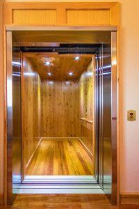 wood elevator cab