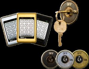 elevator keys and padlocks
