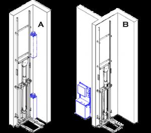 robed hydraulic elevator system