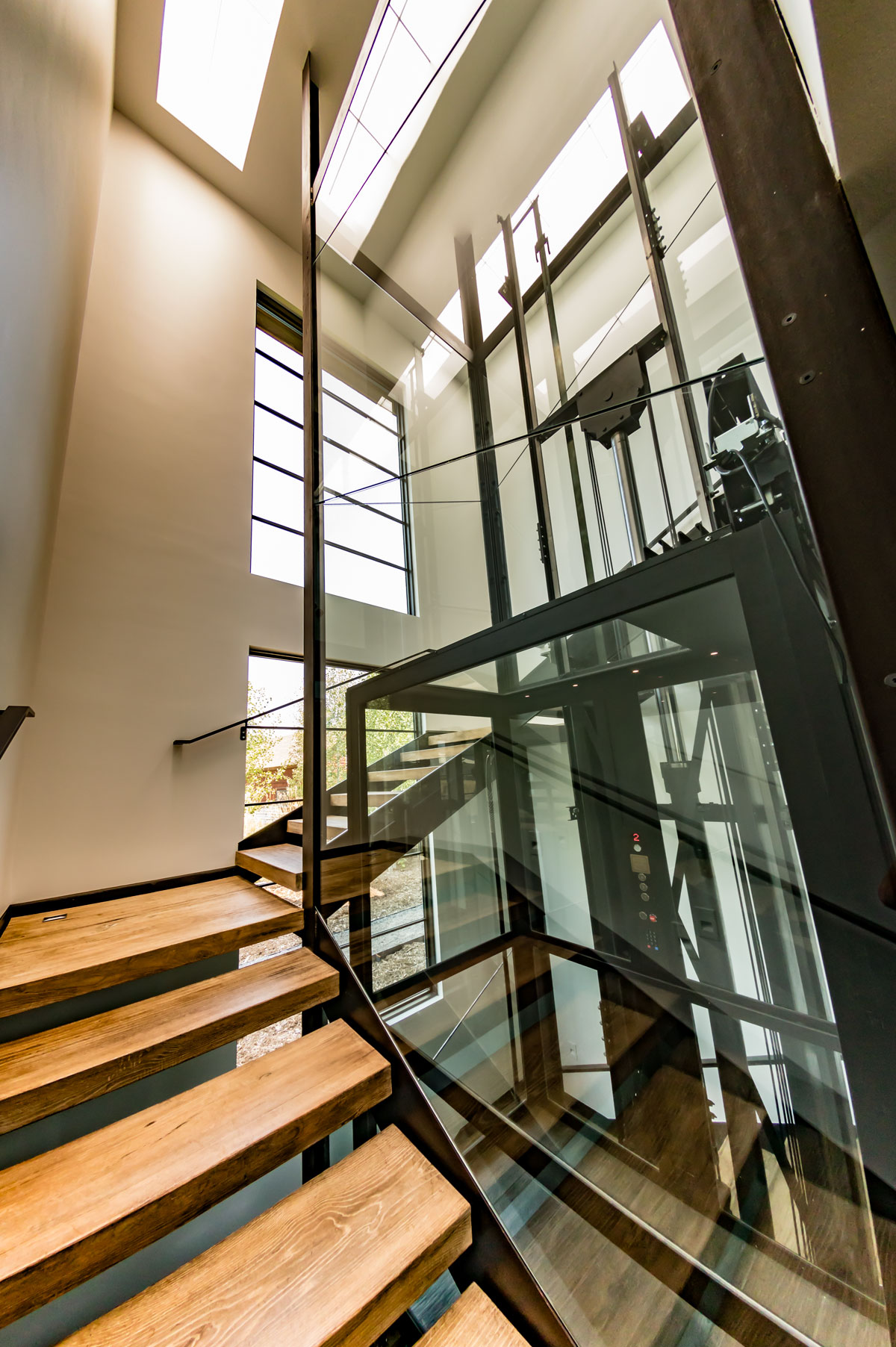 Custom Glass Elevator Design