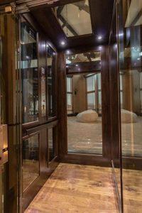 glass elevator cab