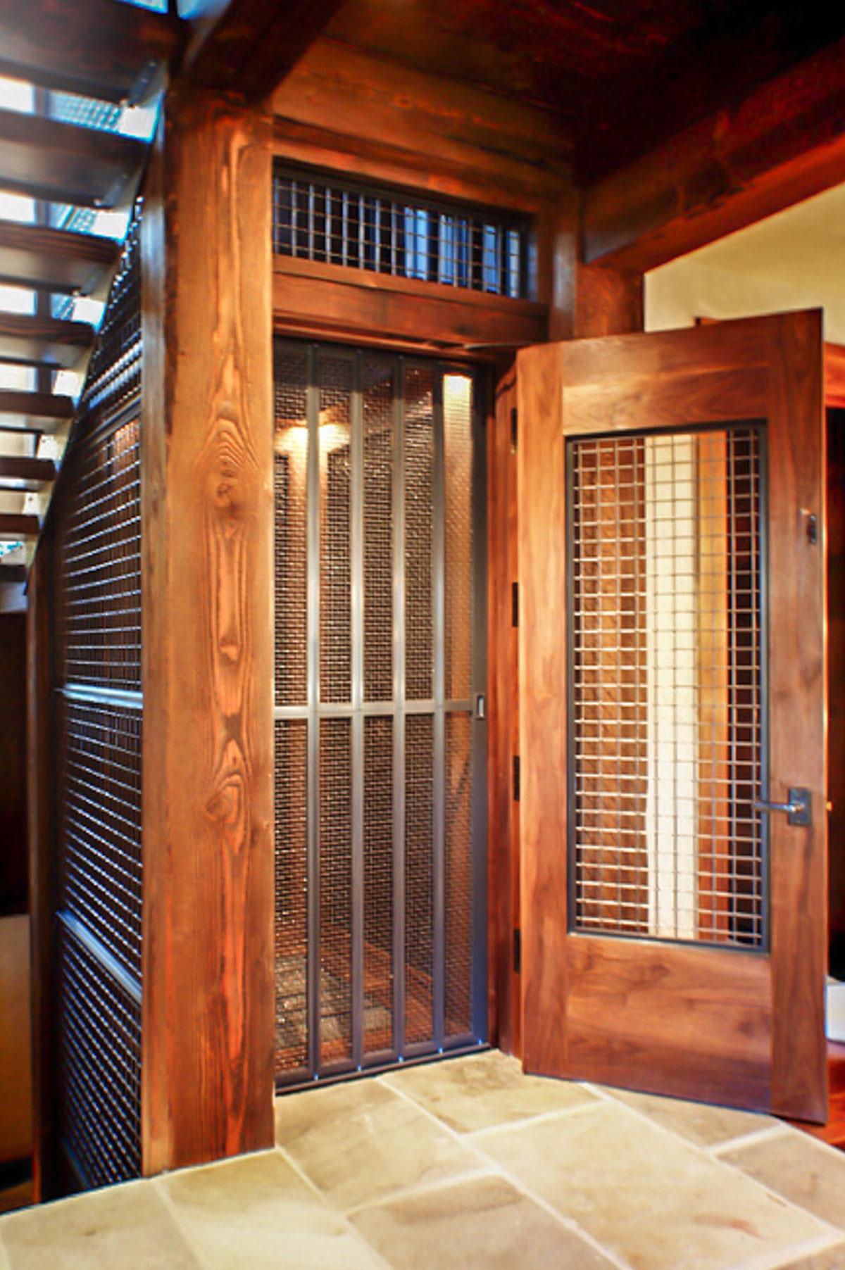 Rustic Elevator Design